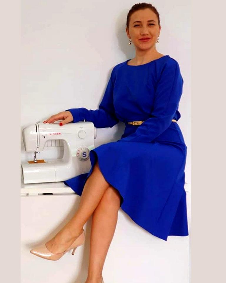 Rochie-albastra-butterick
